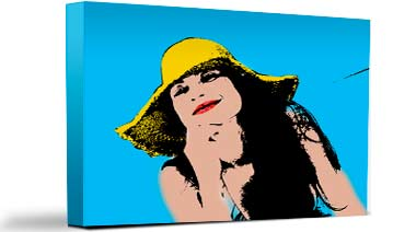 elaborazione pop art su tela