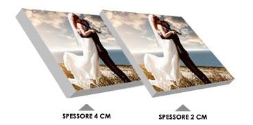 quadri su tela con telaio da 2 o 4 cm